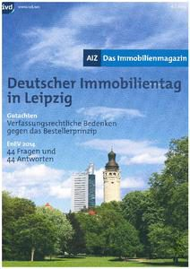 Deutscher Immobilientag in Leipzig AIZ 2014