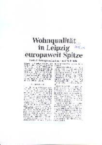 Wohnqualität Leipzig LVZ