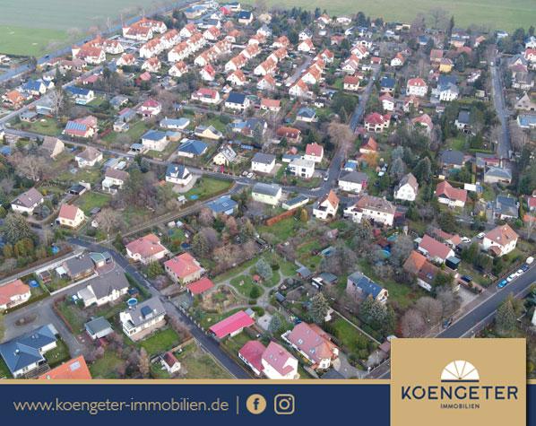 Immobilien, Grundstück, Luftbild, Großpösna